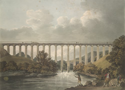 View of Pontcysyllte Aqueduct, North Wales